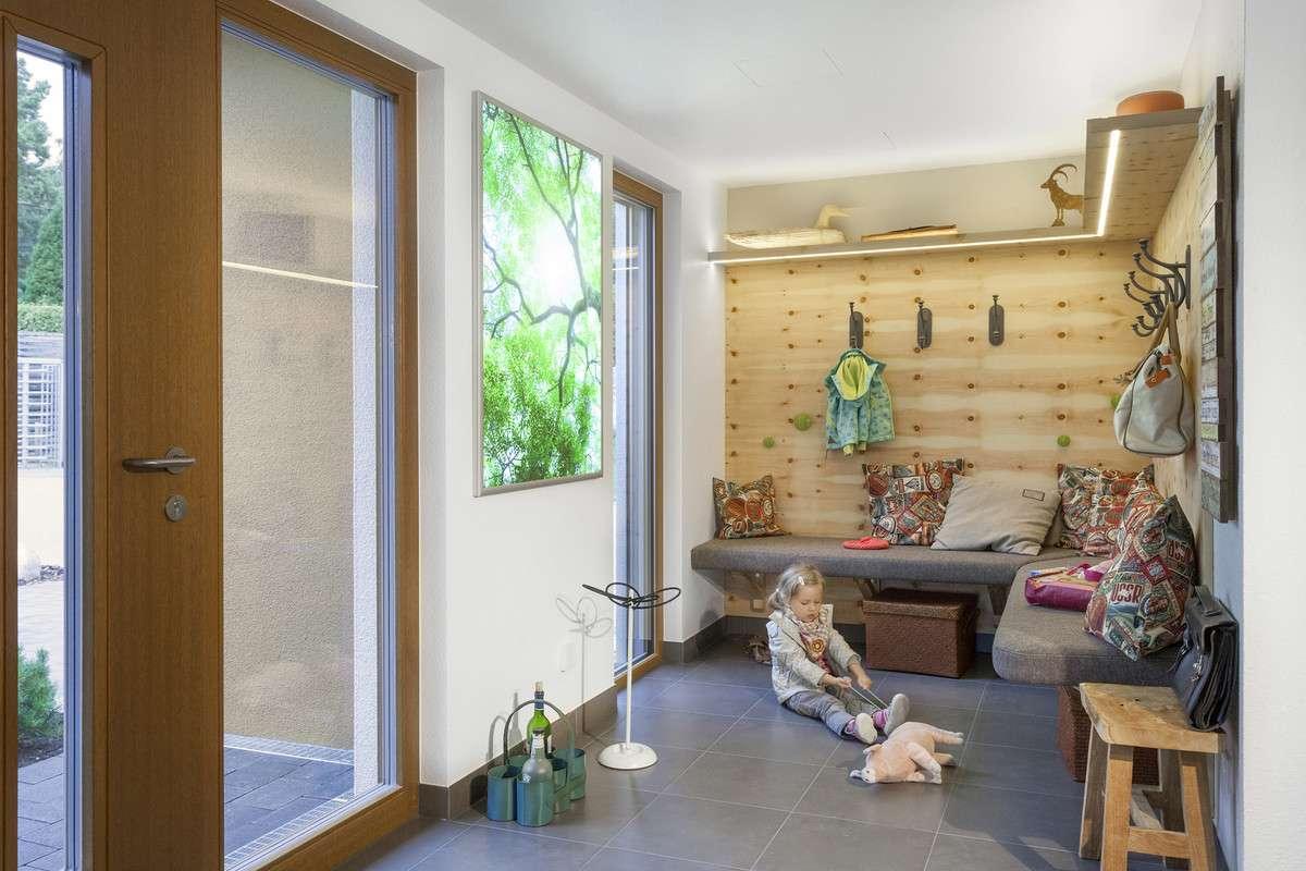 Eingangsbereich in Holzoptik