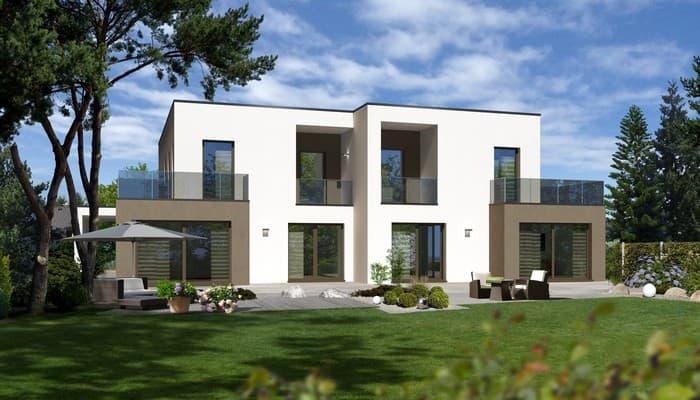 doppelhaus mit zwei individuell gestalteten wohnparteien streif haus gmbh anbieter. Black Bedroom Furniture Sets. Home Design Ideas