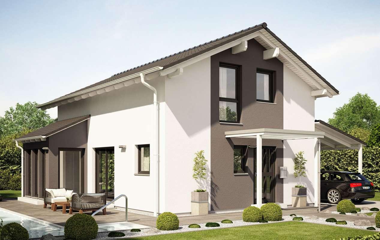 <p><strong>Schickes Einfamilienhaus mit Wintergarten-Erker, Carport und Balkon</strong></p>