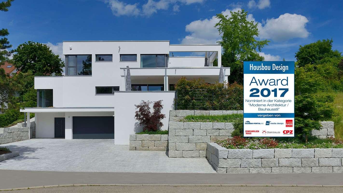 Nominiert für den Hausbau Design Award in der Kategorie Moderne Architektur / Bauhausstil - Haus Wünschmann