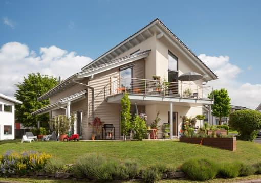 Modernes Familienhaus mit Pultdach