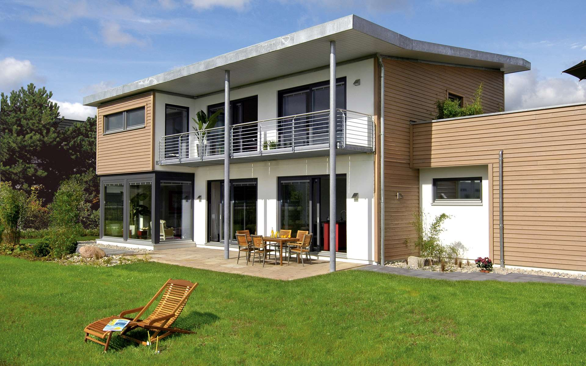 Schw rerhaus modernes z dach in hannover langenhagen for Modernes haus mit rotem dach