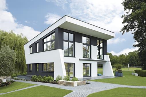 Modernes Musterhaus Mit Skulpturaler Architektur