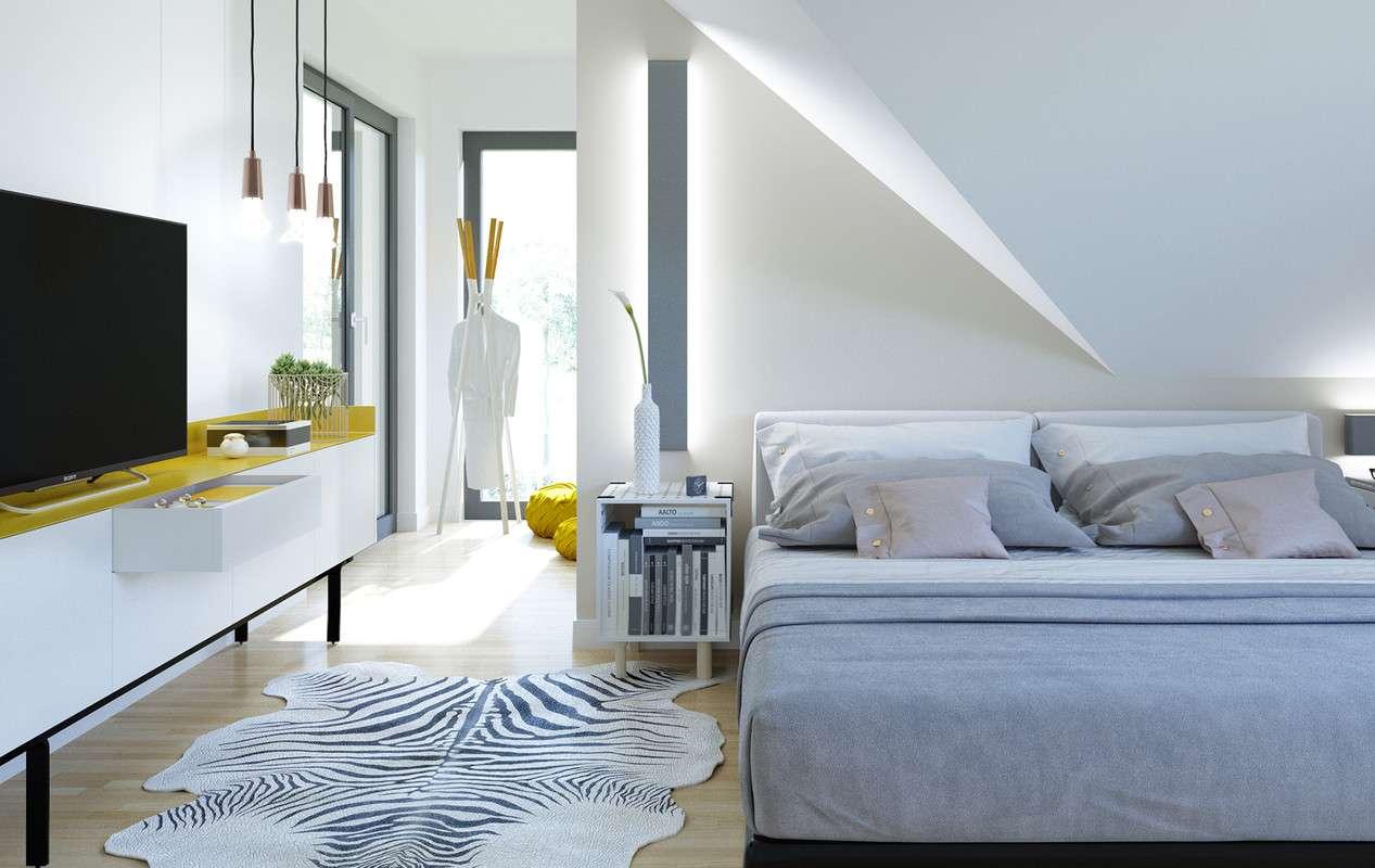 Zebra Teppich Im Schlafzimmer
