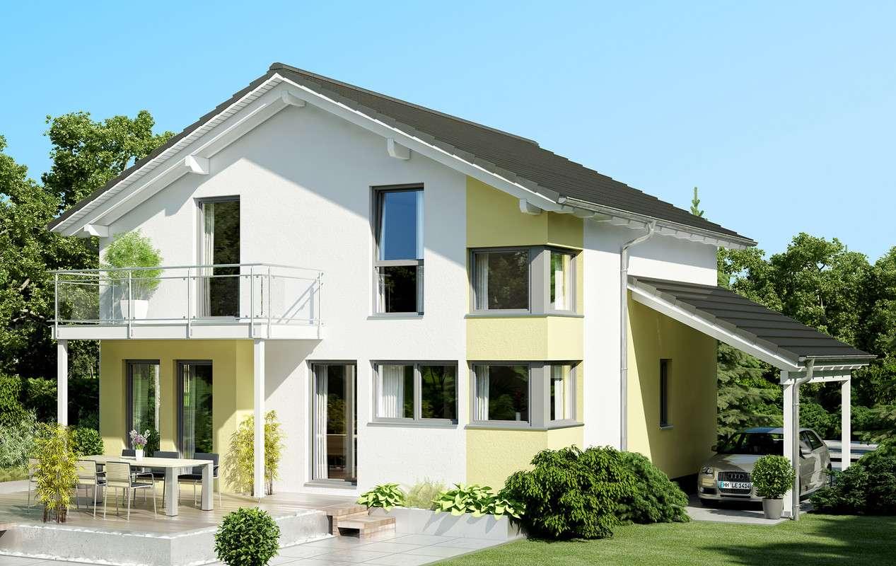<p><strong>Großzügiges Einfamilienhaus mit Carport und Erker mit Balkon</strong></p>