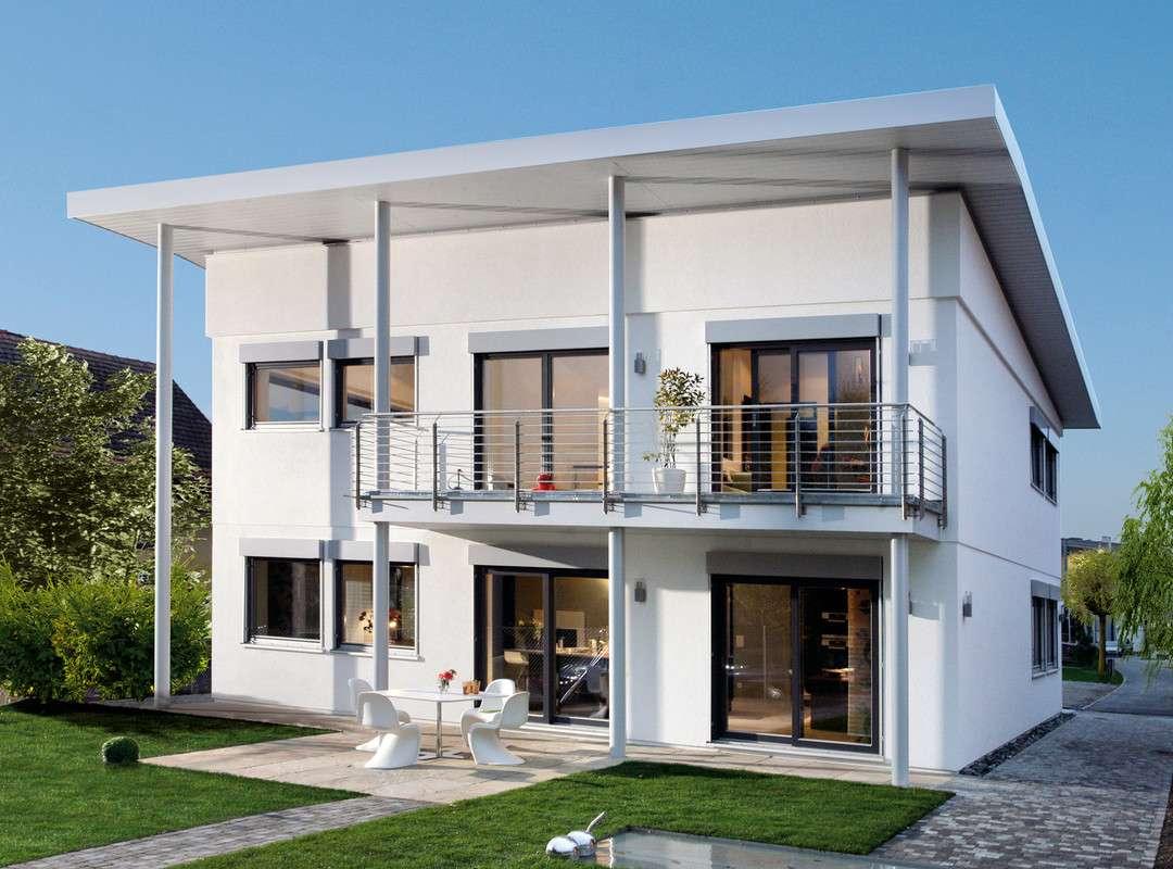 Modernes Einfamilienhaus mit Pultdach