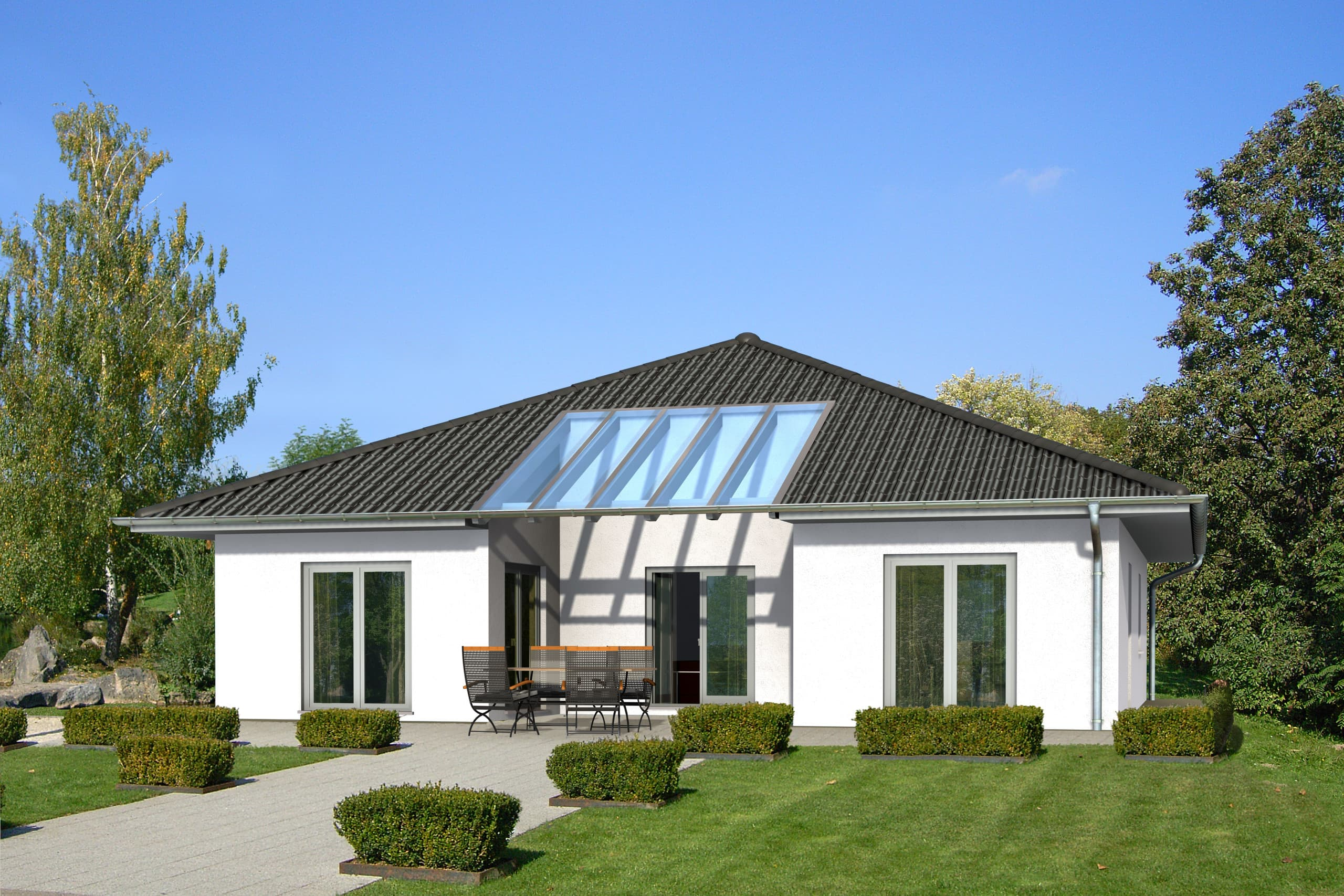 Meisterst ck haus bungalow atrium for Atriumhaus bauen