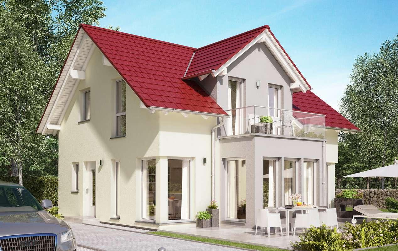 Haus mit roten Dachziegeln