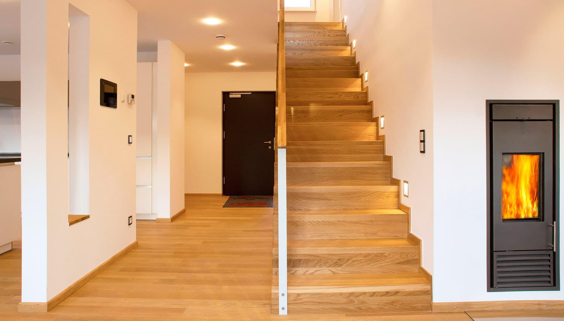 Musterhaus Ulm - Treppe aus der hauseigenen Schreinerei