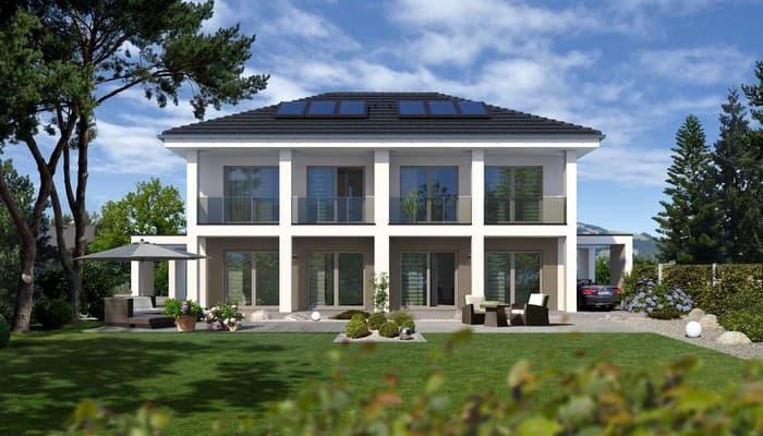 Doppelhaus mit zwei individuell gestalteten wohnparteien - Was kostet ein dachstuhl walmdach ...