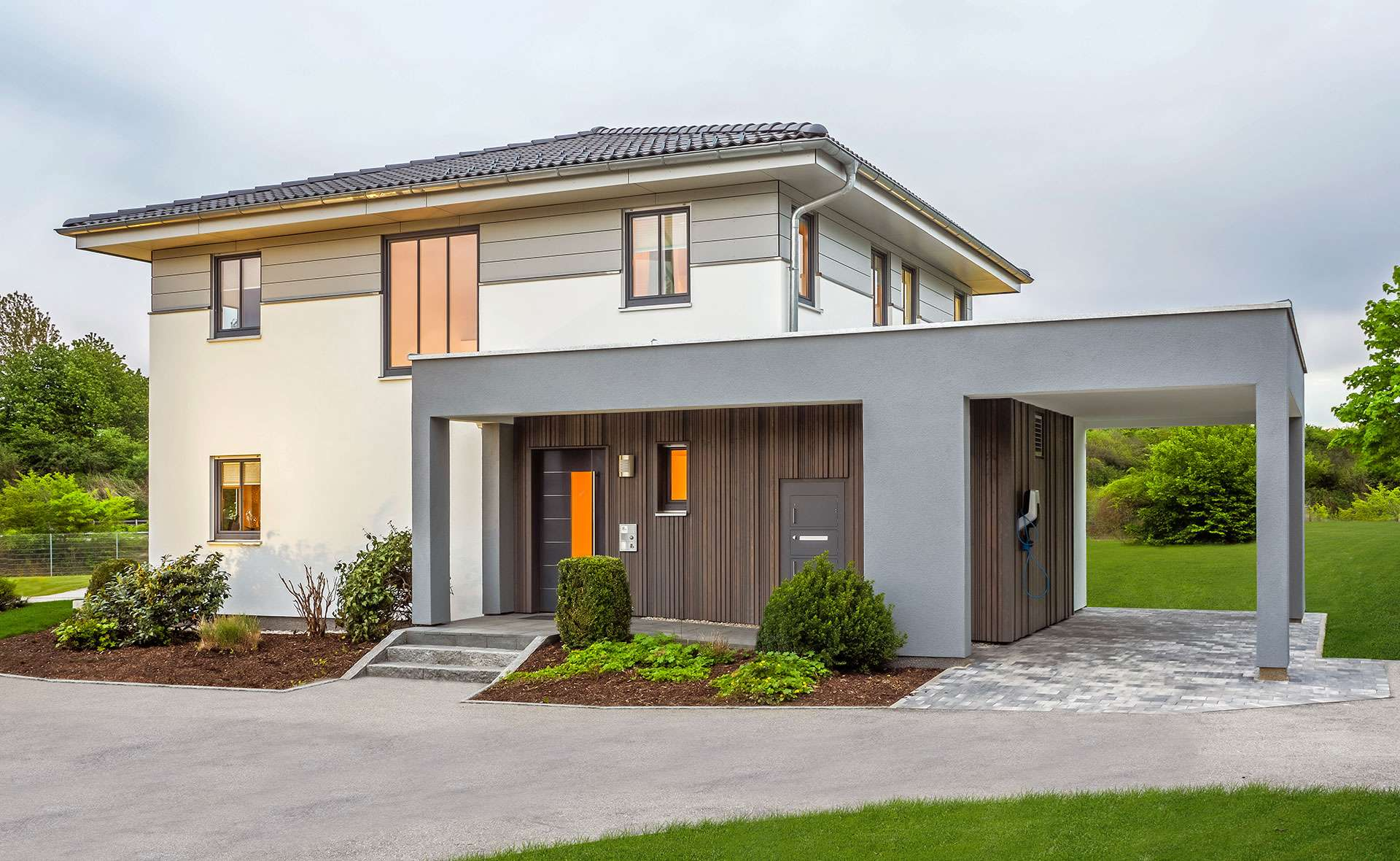 haas fertighaus musterhaus mh falkenberg 150 haas haus. Black Bedroom Furniture Sets. Home Design Ideas