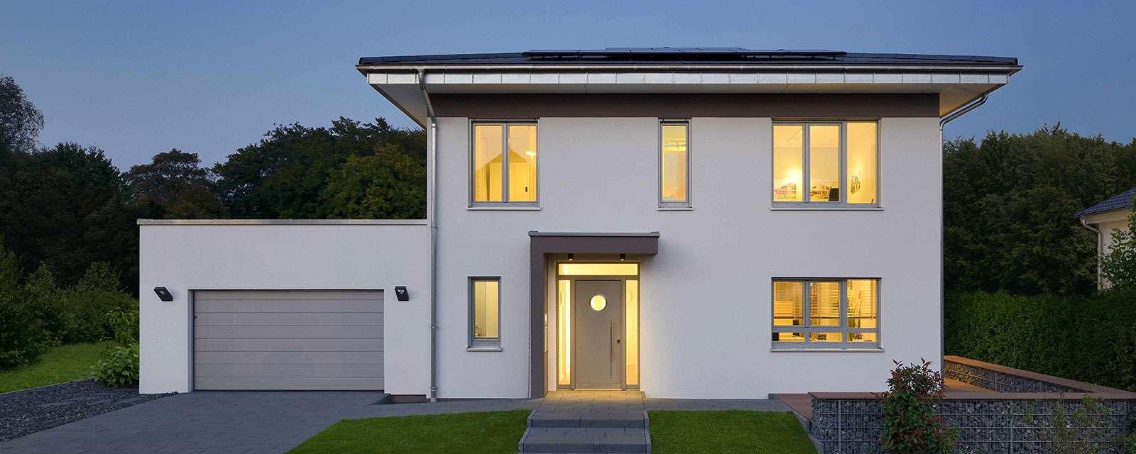 Musterhaus stadtvilla mit garage  KAMPA - Musterhaus Wuppertal