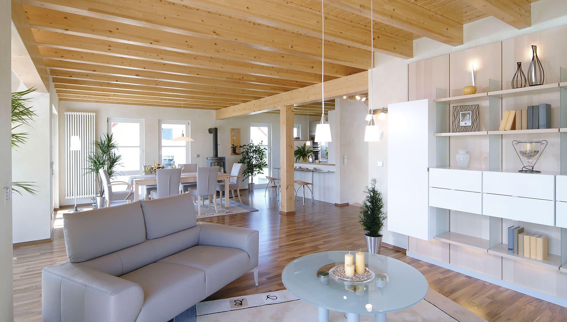 fertighaus weiss musterhaus vision in oberrot. Black Bedroom Furniture Sets. Home Design Ideas