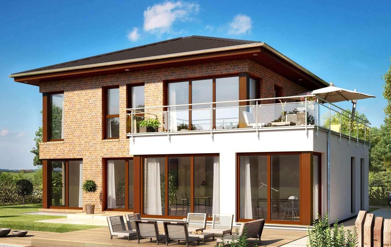 <p><strong>Exklusives Einfamilienhaus mit Übereck-Erker XXL Plus</strong></p>