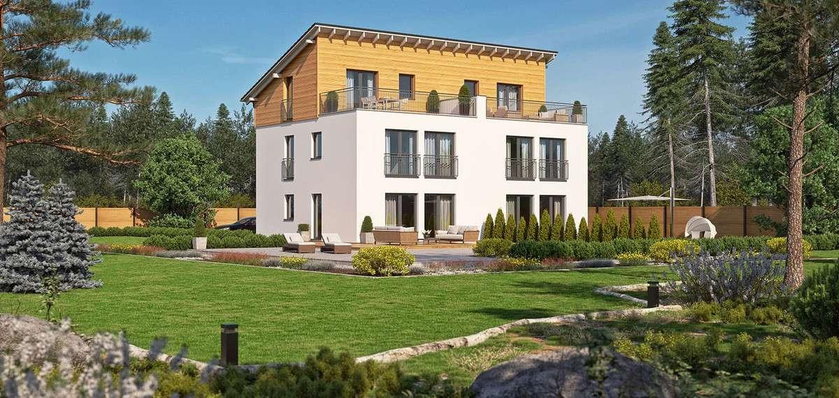 Das doppelhaus liegt voll im trend for Raumgestaltung chemnitz