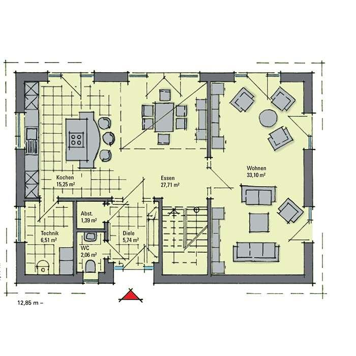 gussek haus musterhaus svenja in nordhorn. Black Bedroom Furniture Sets. Home Design Ideas