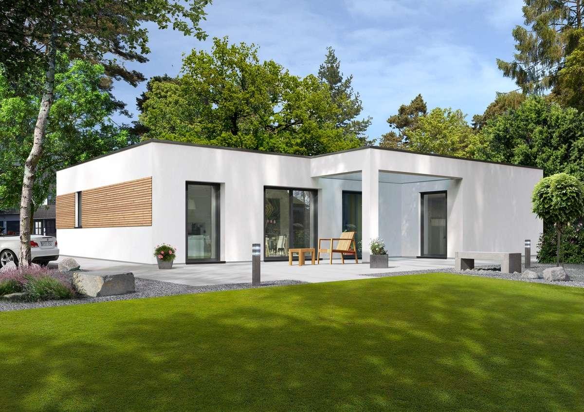 Streif haus bungalow mit klaren linien for Bungalow fertighaus bauen