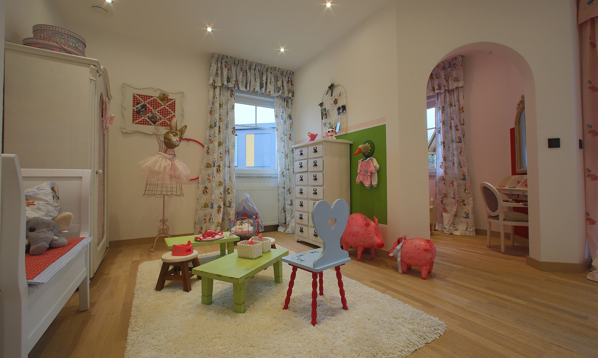 Das Kinderzimmer des Musterhauses Living 148 von ELK lässt Prinzessinnenherzen höher schlagen.