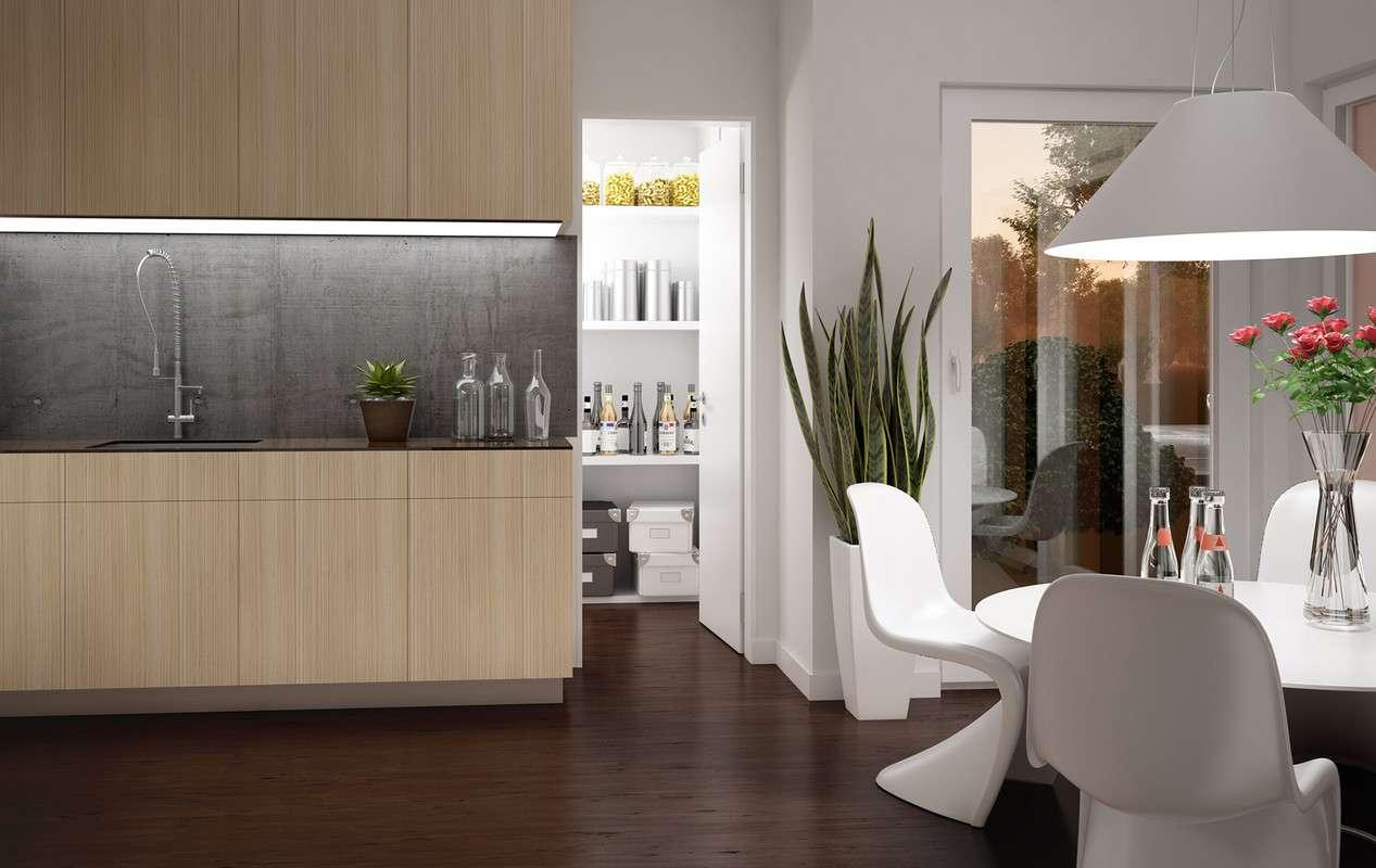 <p><strong>Elegant-modernes Traumhaus mit Fassadenrahmen und Fassadenrücksprung im OG</strong></p>