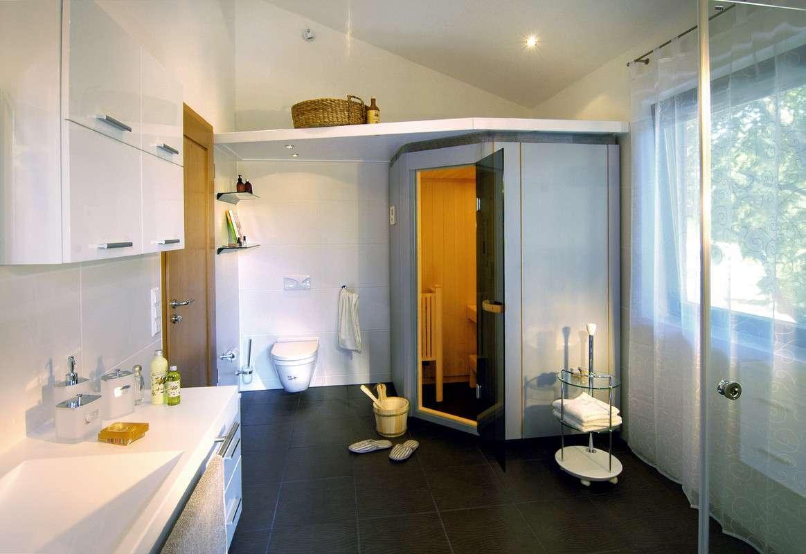 Modernes Badezimmer Mit Einbausauna