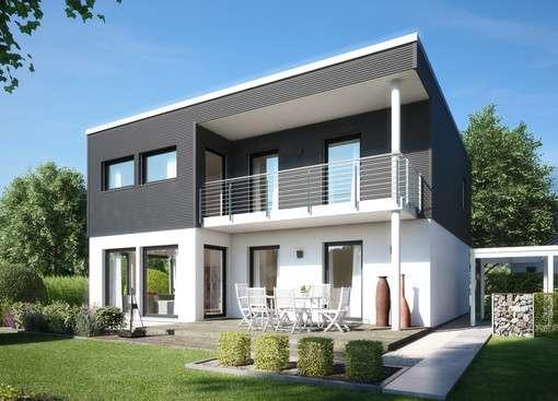 Einfamilienhaus im Bauhaus-Stil mit Flachdach