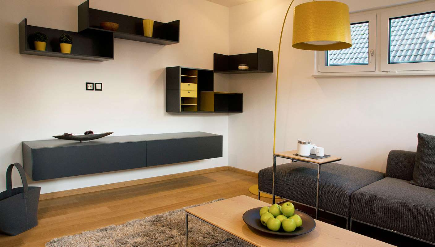fertighaus weiss musterhaus cube in ulm. Black Bedroom Furniture Sets. Home Design Ideas