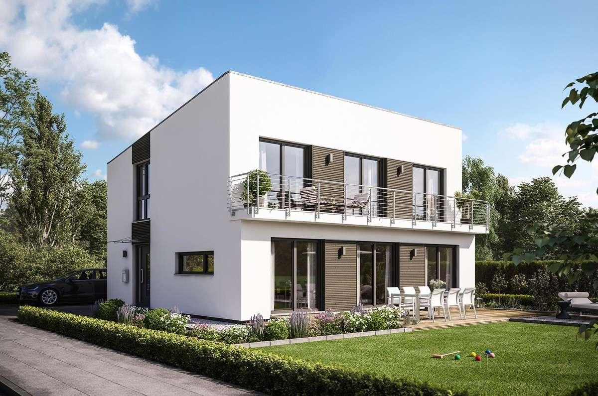 Schwörer Haus - Hausentwurf: Modernes Landhaus mit Pultdach