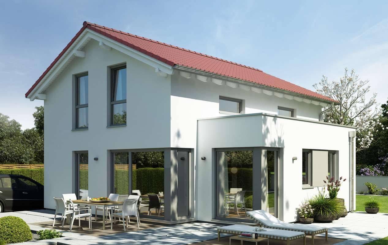 <p><strong>Modernes Einfamilienhaus mit traufseitigem Erker</strong></p>