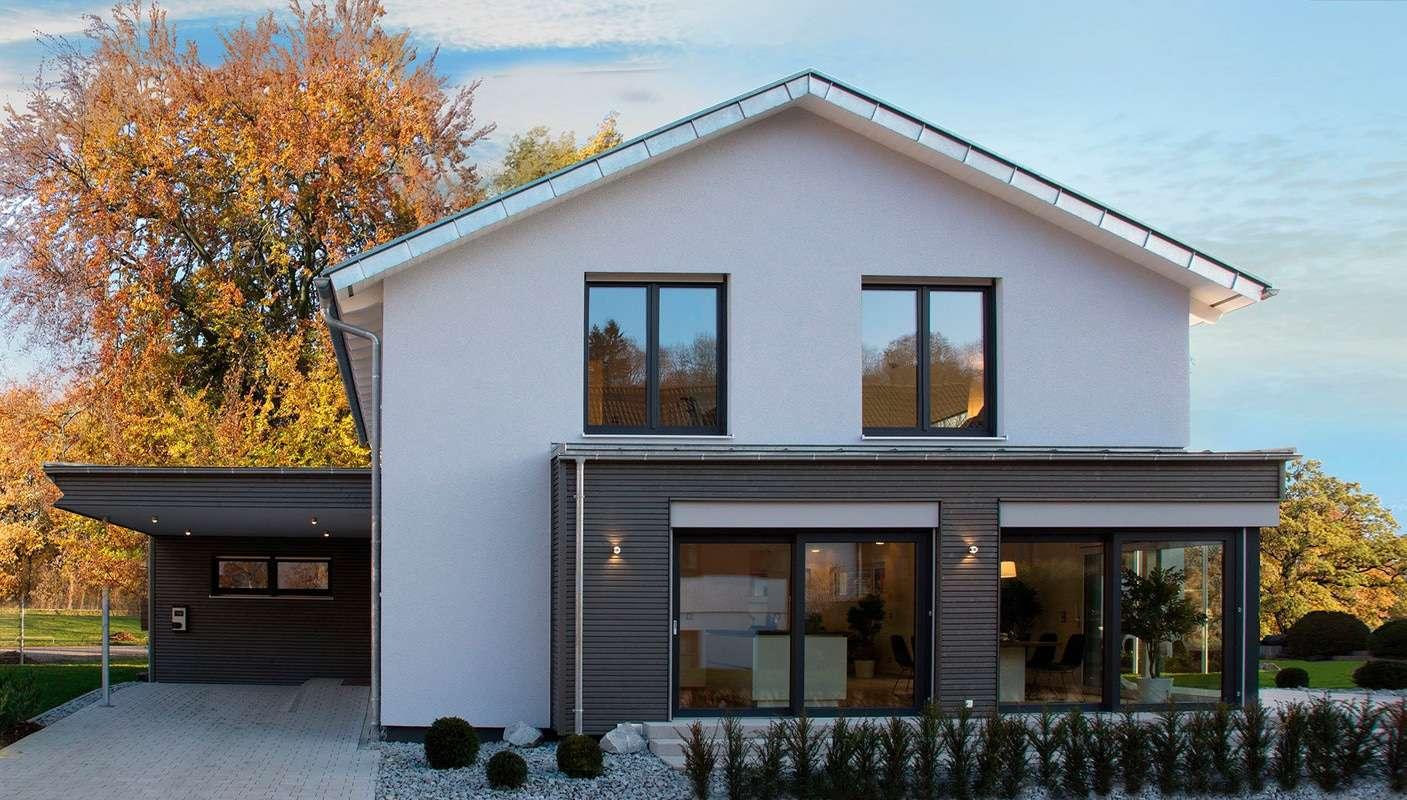 fertighaus weiss musterhaus cube in ulm. Black Bedroom Furniture Sets. Home Design Ideas