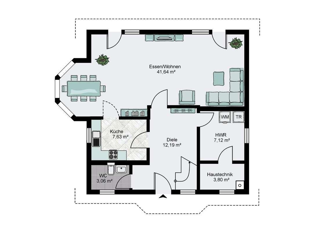 streif haus im musterhauspark m lheim k rlich. Black Bedroom Furniture Sets. Home Design Ideas