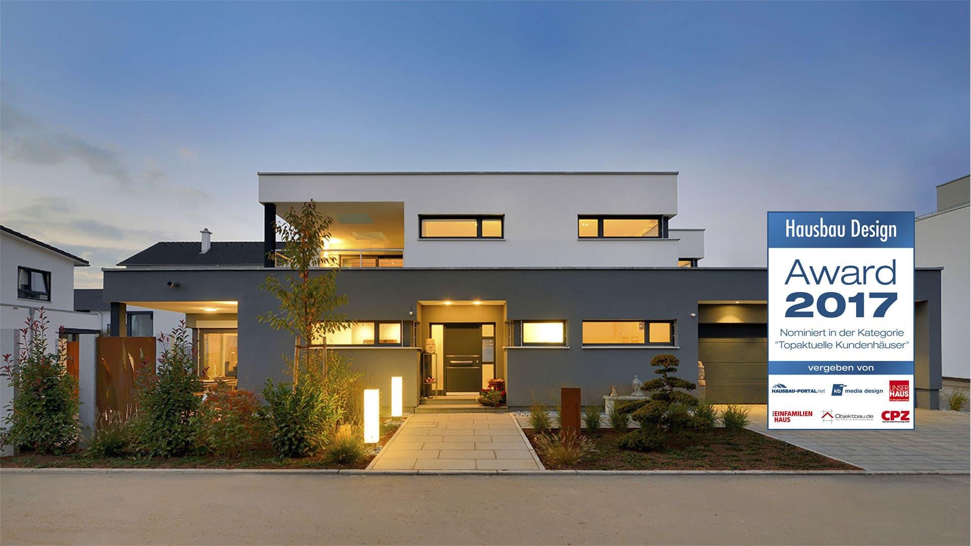 Nominiert für den Hausbau Design Award in der Kategorie Topaktuelle Kundenhäuser - Haus Geyer