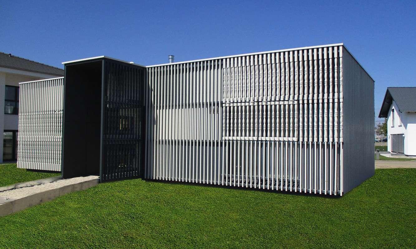 Der Ideenpavillion von Baufritz in Günzburg besticht durch seine kreative und ungewöhnlich Gestaltung.