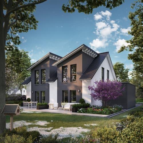 Moderne Dach- und Fassadengestaltung