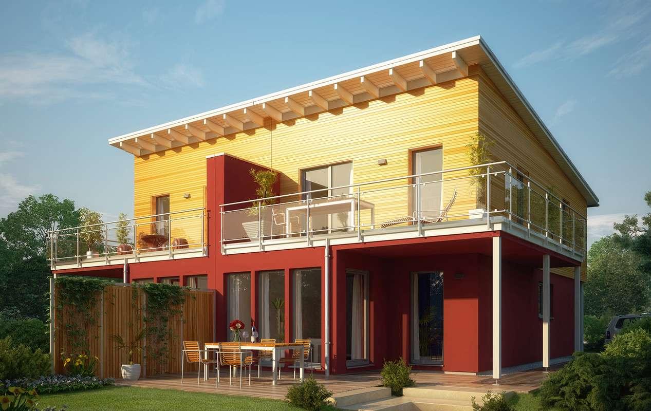 <p><strong>Traumhaftes Doppelhaus mit Wintergarten-Erker und Übereck-Balkon</strong></p>