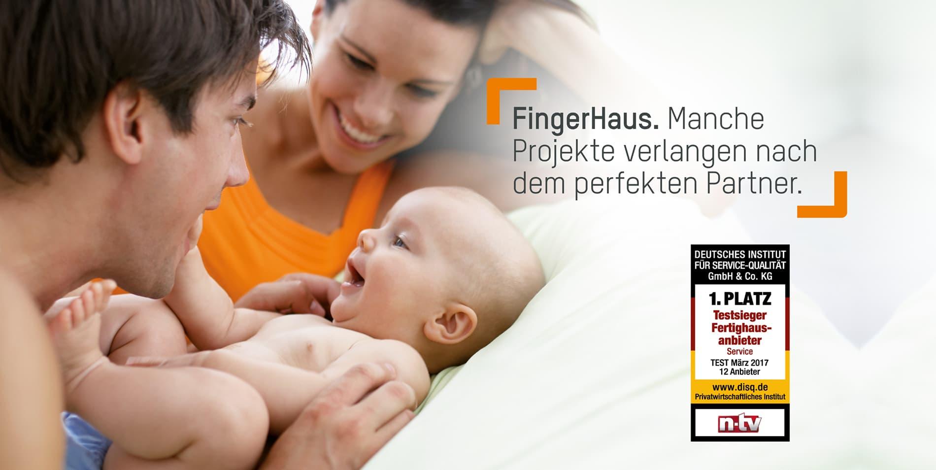 Fertighaus von FingerHaus - Testsieger bei Service-Qualität