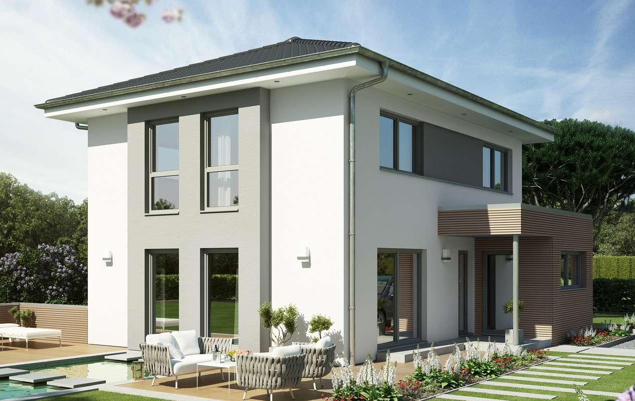 <p><strong>Repräsentatives Einfamilienhaus mit 2 Erkern</strong></p>
