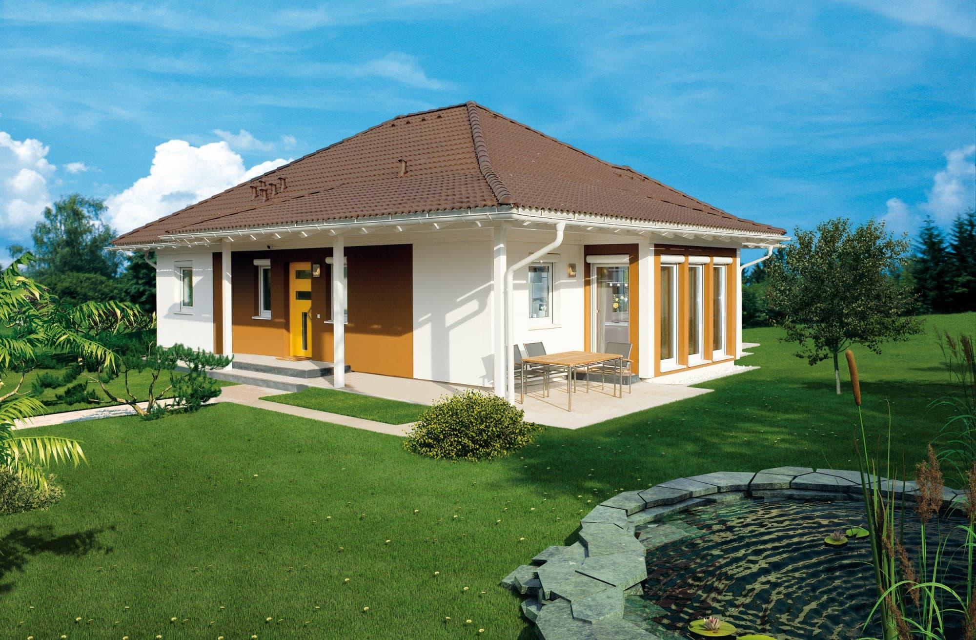 elk bungalow 113 musterhaus in der hausausstellung erfurt. Black Bedroom Furniture Sets. Home Design Ideas