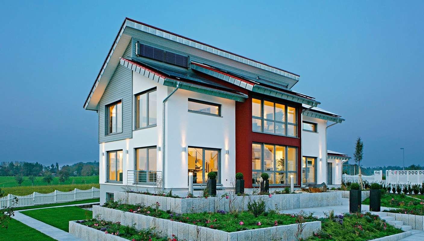 fertighaus weiss musterhaus style in oberrot. Black Bedroom Furniture Sets. Home Design Ideas