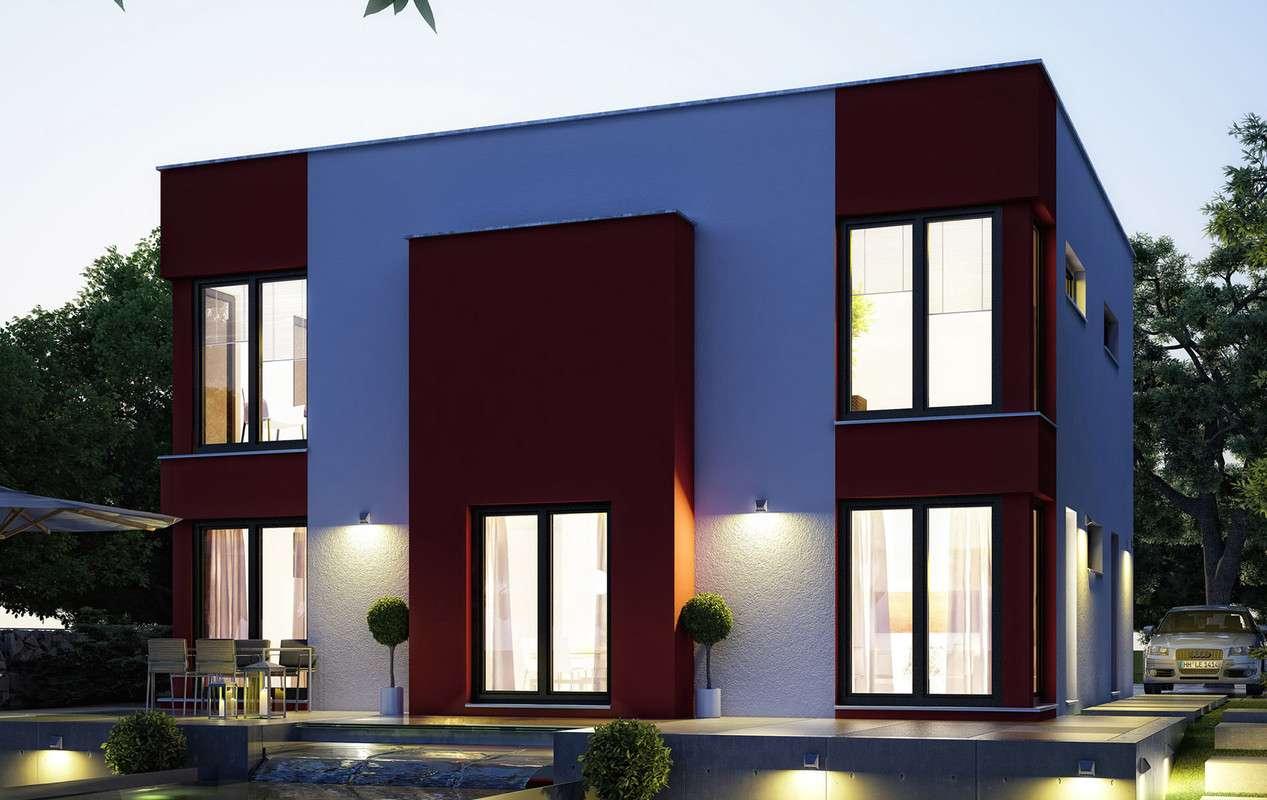 <p><strong>Hochmodernes Kubushaus mit offener Küche und Erker XL </strong></p>
