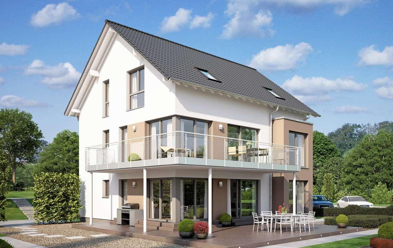<p><strong>Innovatives Mehrgenerationenhaus mit großem Übereck-Balkon</strong></p>
