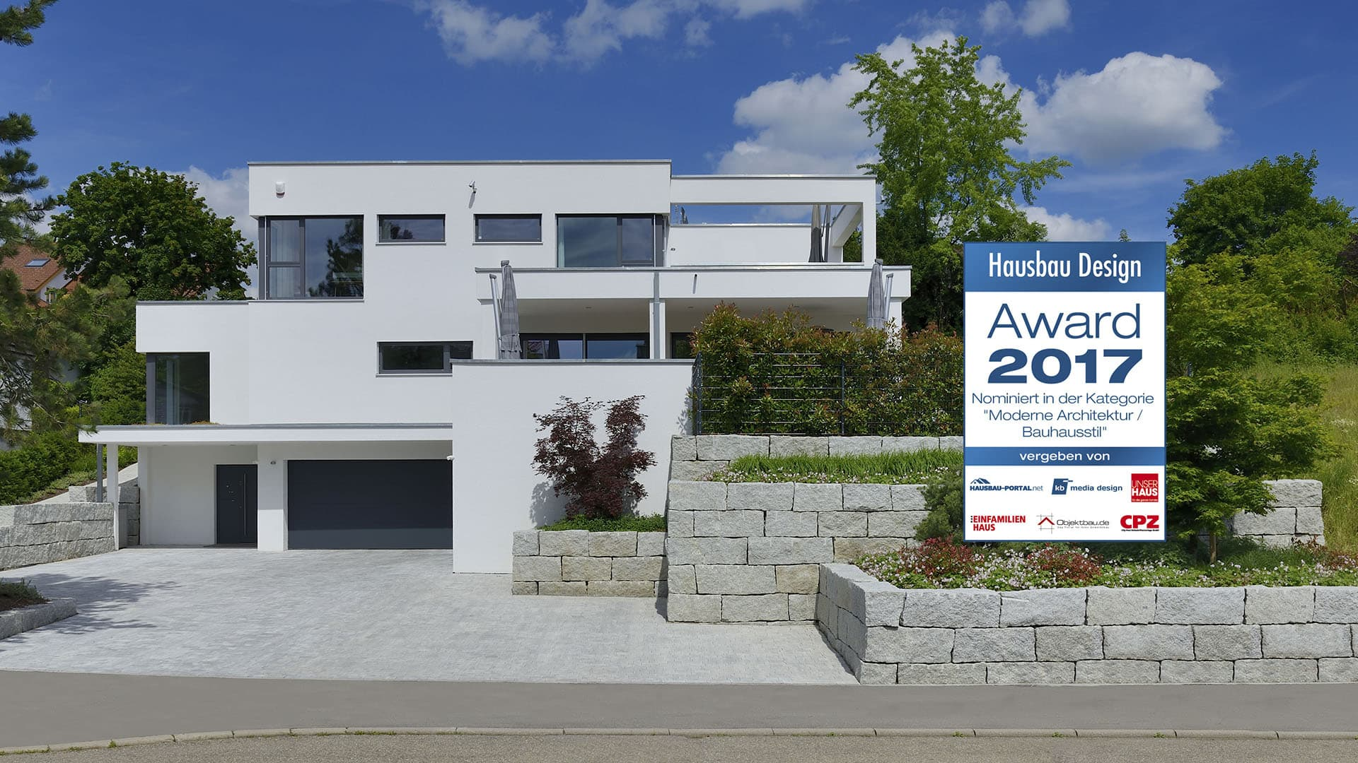 Fertighaus weiss for Haus design moderne architektur