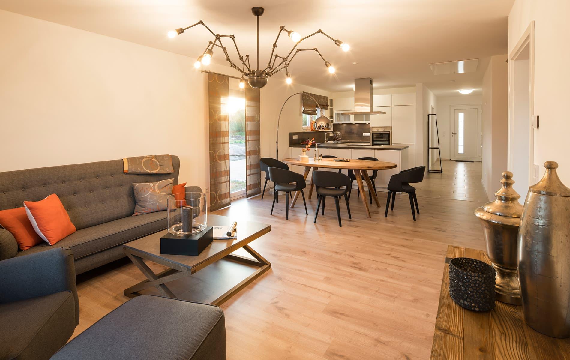 NIVO - Battenfeld - Wohnzimmer, Essbereich und Küche