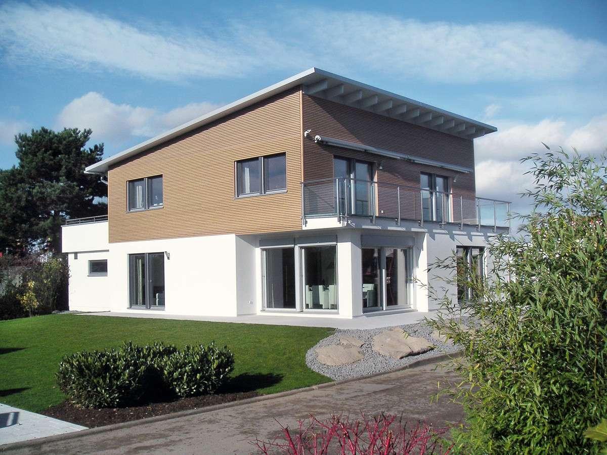 Modernes Haus Mit Pultdach schwörerhaus bauhausstil mit pultdach in mülheim kärlich