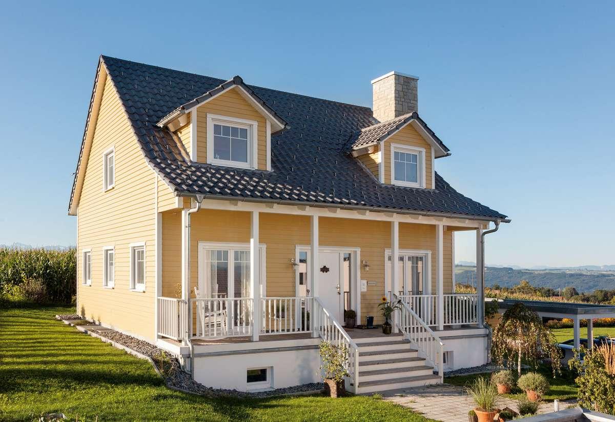 Schw rerhaus country fertighaus kundenhaus for Haus bauen stile