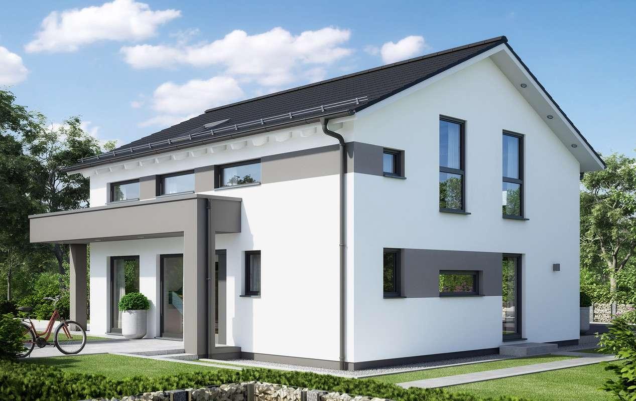 Moderne graue Fassadenelemente