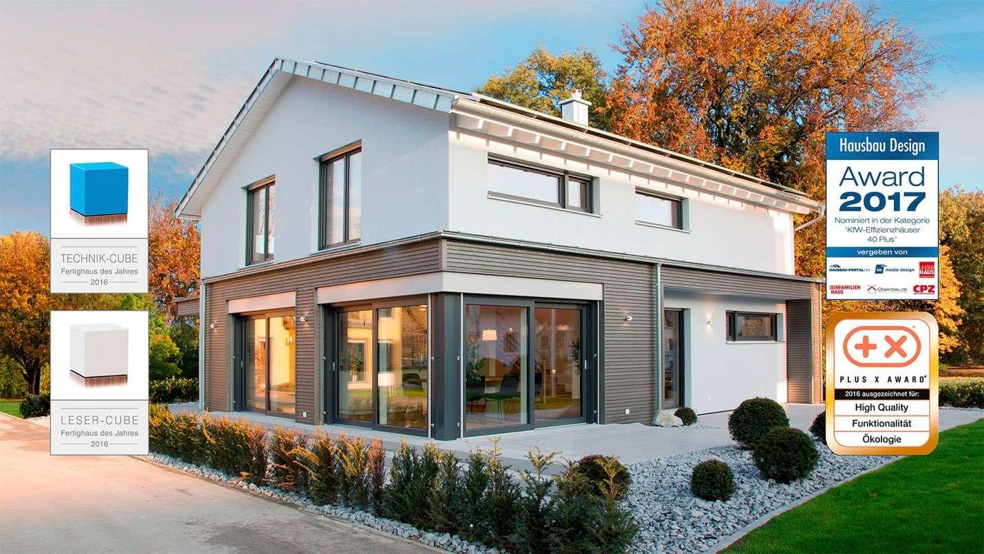Nominiert für den Hausbau Design Award in der Kategorie KfW Effizienzhäuser 40 Plus - Haus Ulm