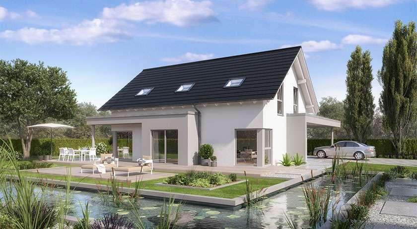 <p>Einfamilienhaus mit Dachüberstand XL</p>