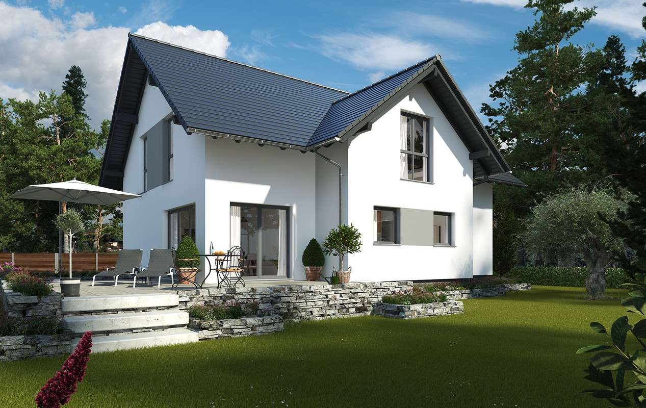 MAXIM 2 - Außenansicht  mit Terrasse
