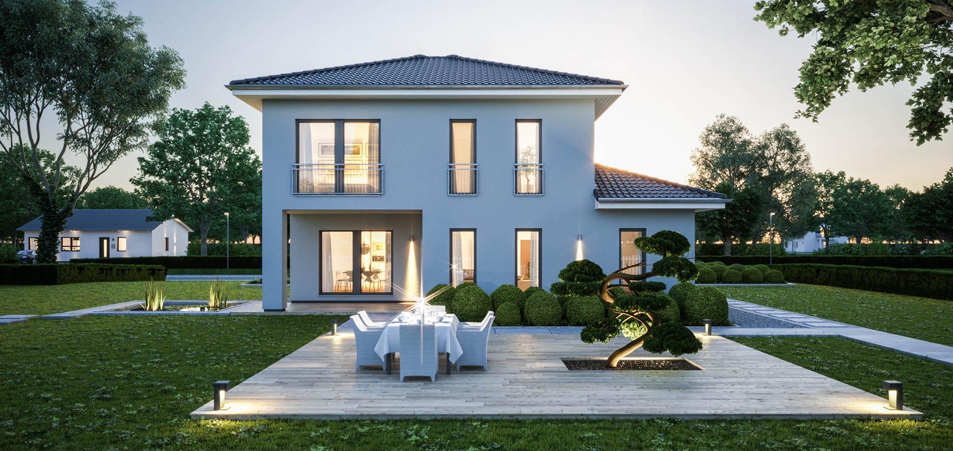 Eine villa als fertighaus bautrends magazin for Fertighaus villa
