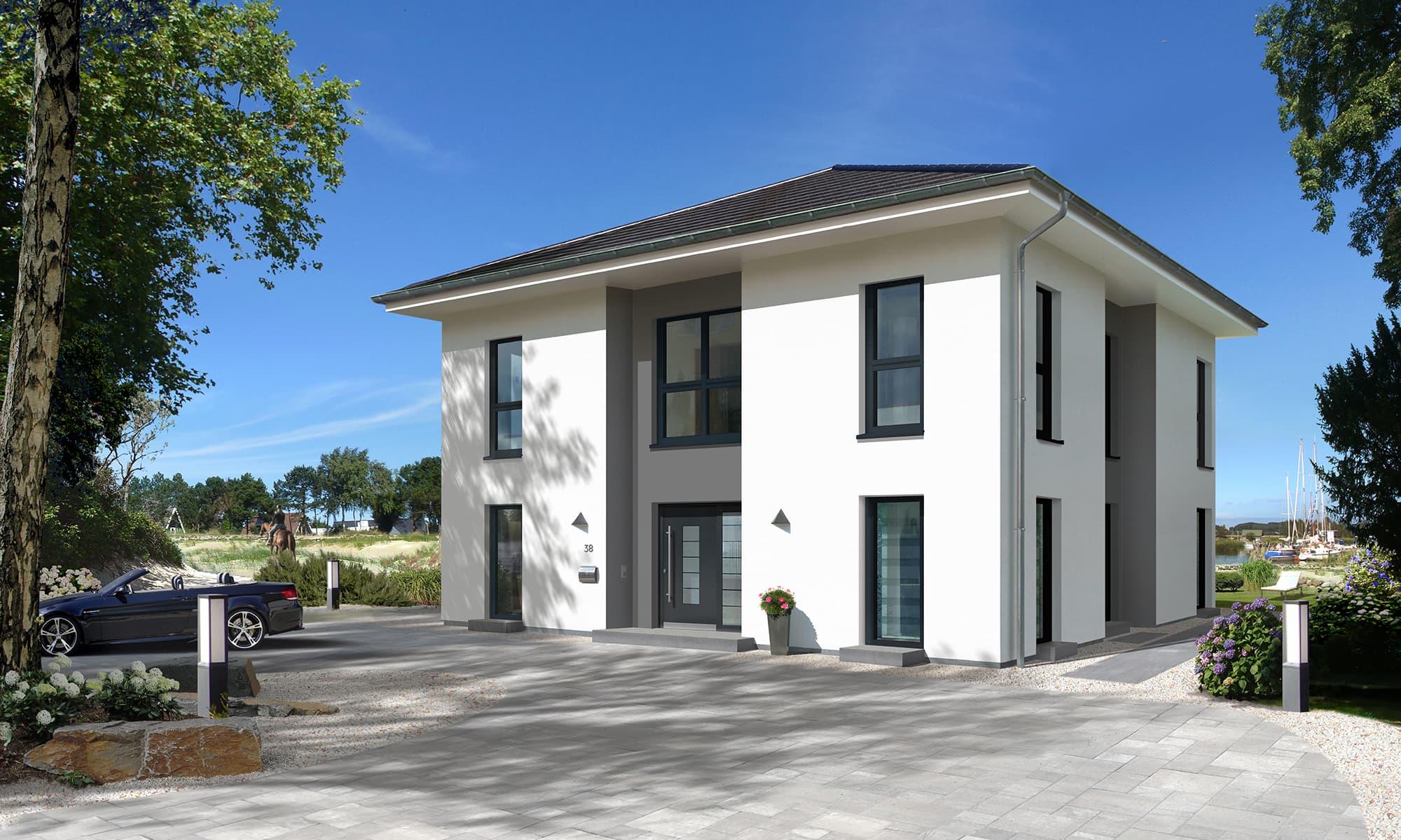 Der Entwurf der Stadtvilla: City Villa 1 besticht durch seine Klarkeit und Großzügigkeit
